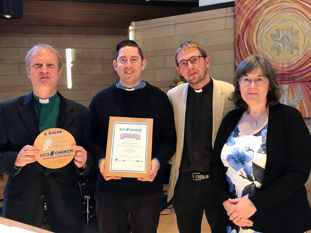Presentation of the silver Eco Church award